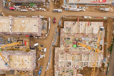 Baustellendokumentation aus der Luft